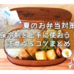 夏のお弁当の保冷剤