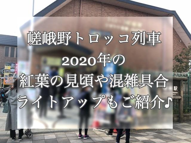 嵯峨野トロッコ列車の2020年の様子